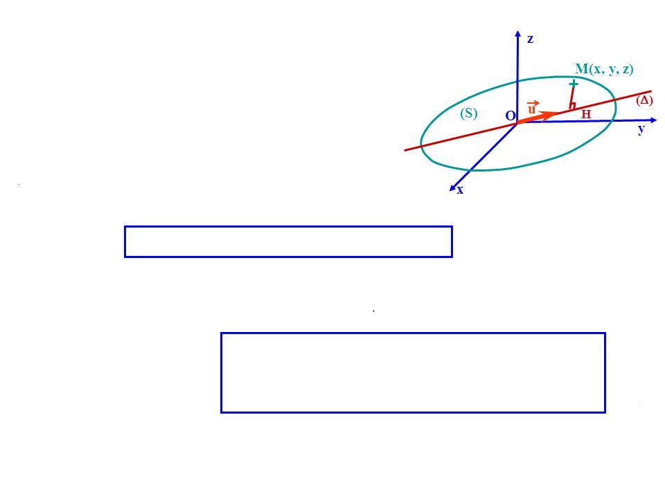 z M(x, y, z) () u (S) O H y x 1-7-2