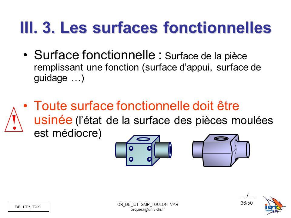 III. 3. Les surfaces fonctionnelles