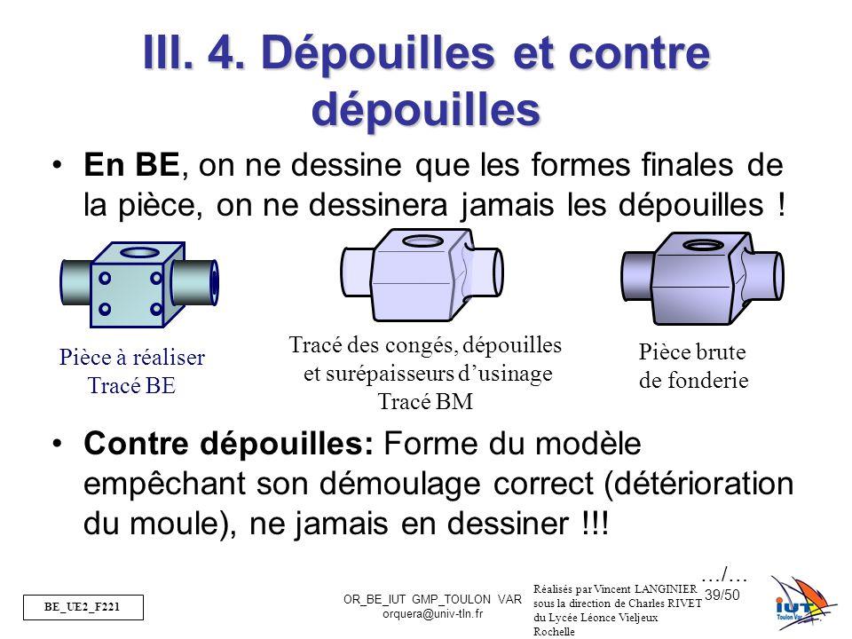III. 4. Dépouilles et contre dépouilles