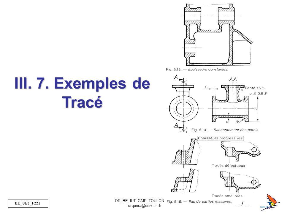 III. 7. Exemples de Tracé …/…