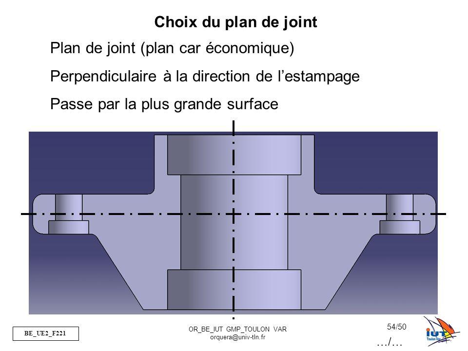 Plan de joint (plan car économique)