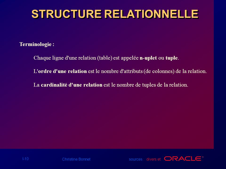STRUCTURE RELATIONNELLE