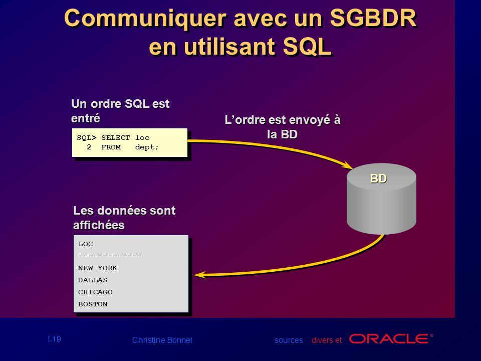 Communiquer avec un SGBDR en utilisant SQL