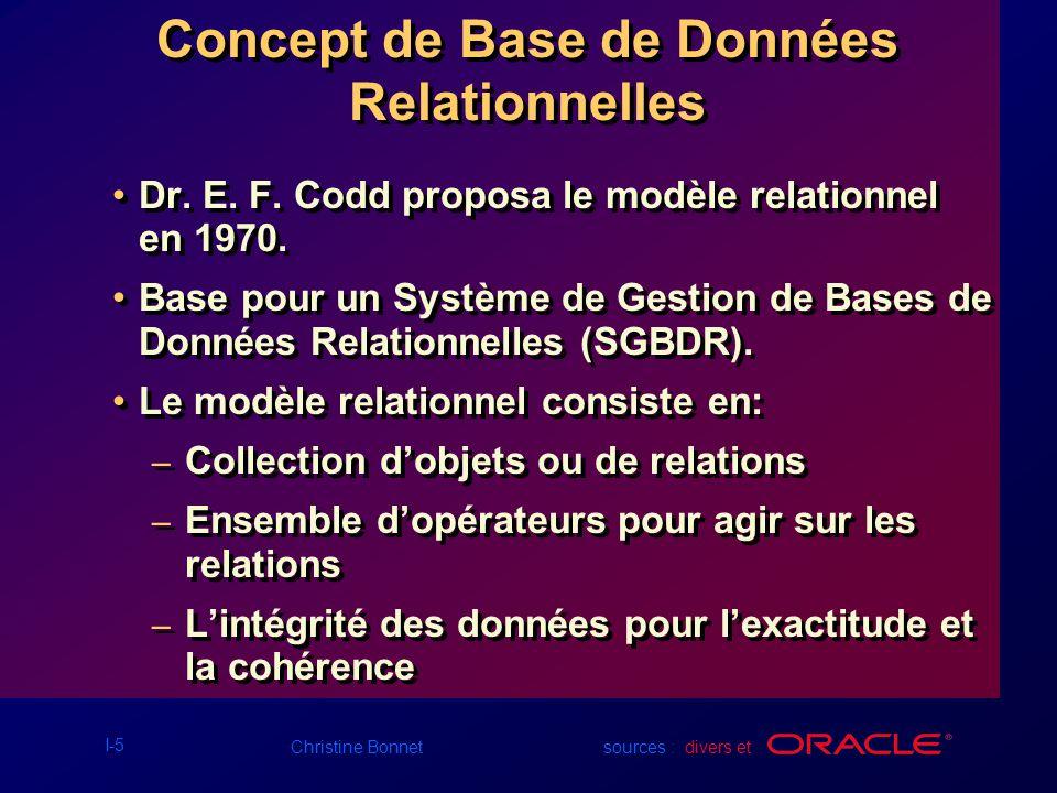 Concept de Base de Données Relationnelles