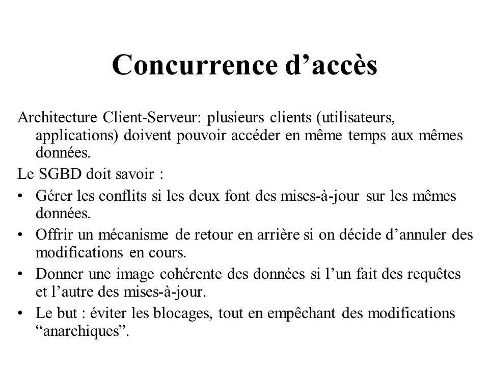 Concurrence d'accès