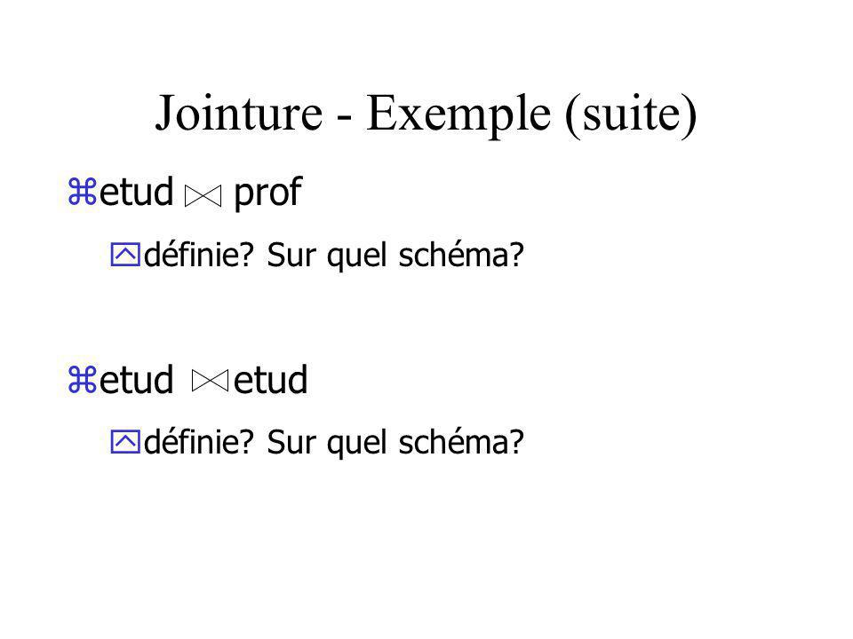 Jointure - Exemple (suite)