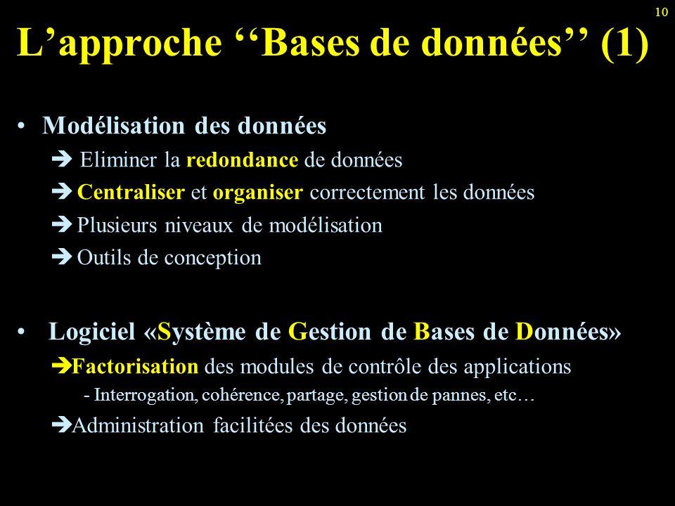 L'approche ''Bases de données'' (1)