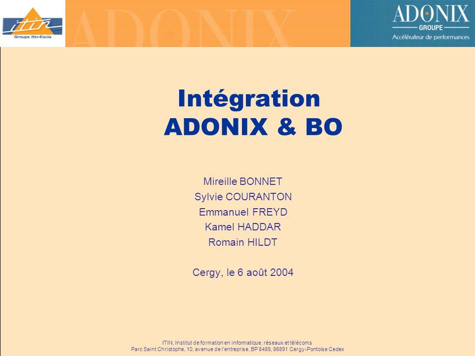 Intégration ADONIX & BO
