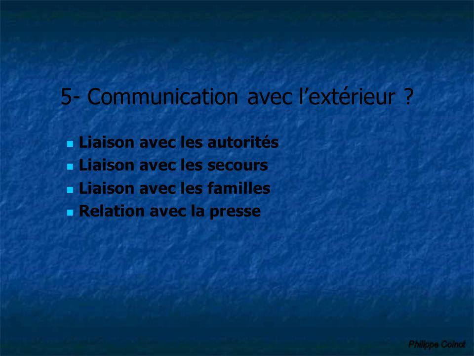 5- Communication avec l'extérieur