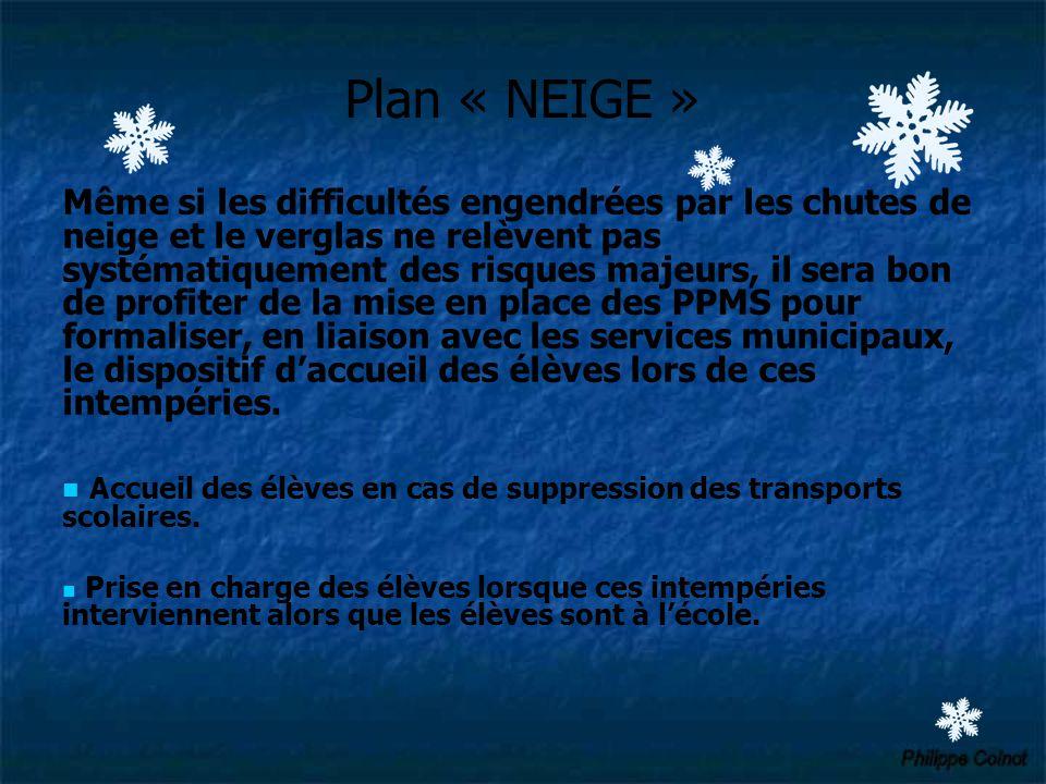 Plan « NEIGE »