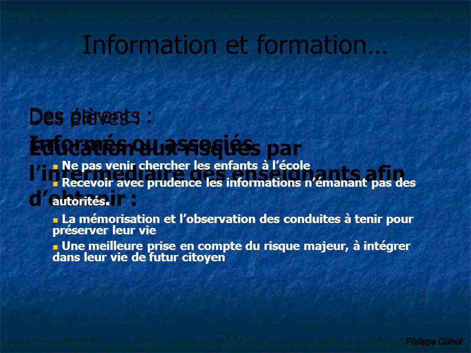 Information et formation…