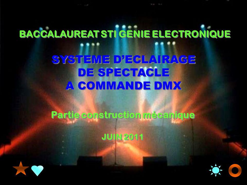 SYSTEME D'ECLAIRAGE DE SPECTACLE Partie construction mécanique
