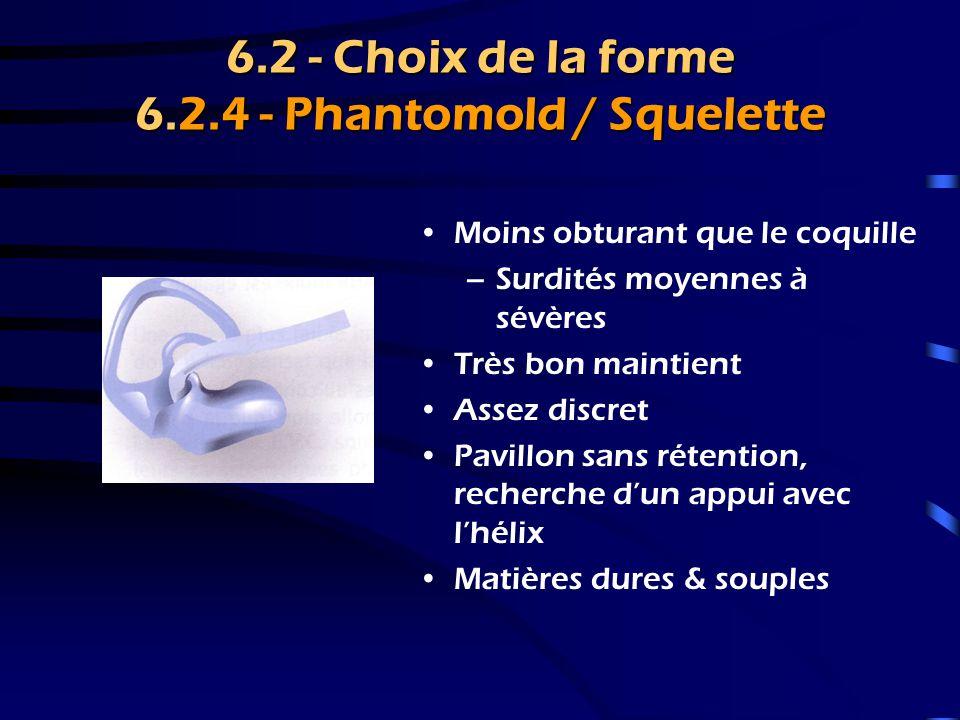 6.2 - Choix de la forme 6.2.4 - Phantomold / Squelette