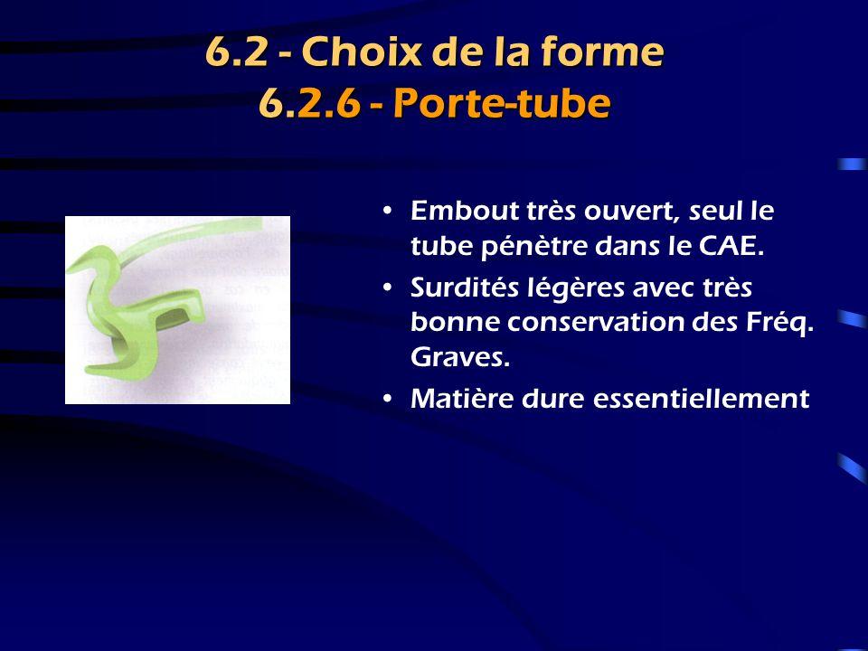 6.2 - Choix de la forme 6.2.6 - Porte-tube