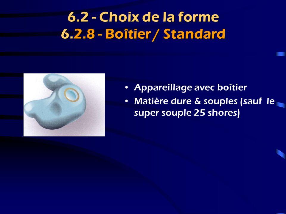 6.2 - Choix de la forme 6.2.8 - Boîtier / Standard