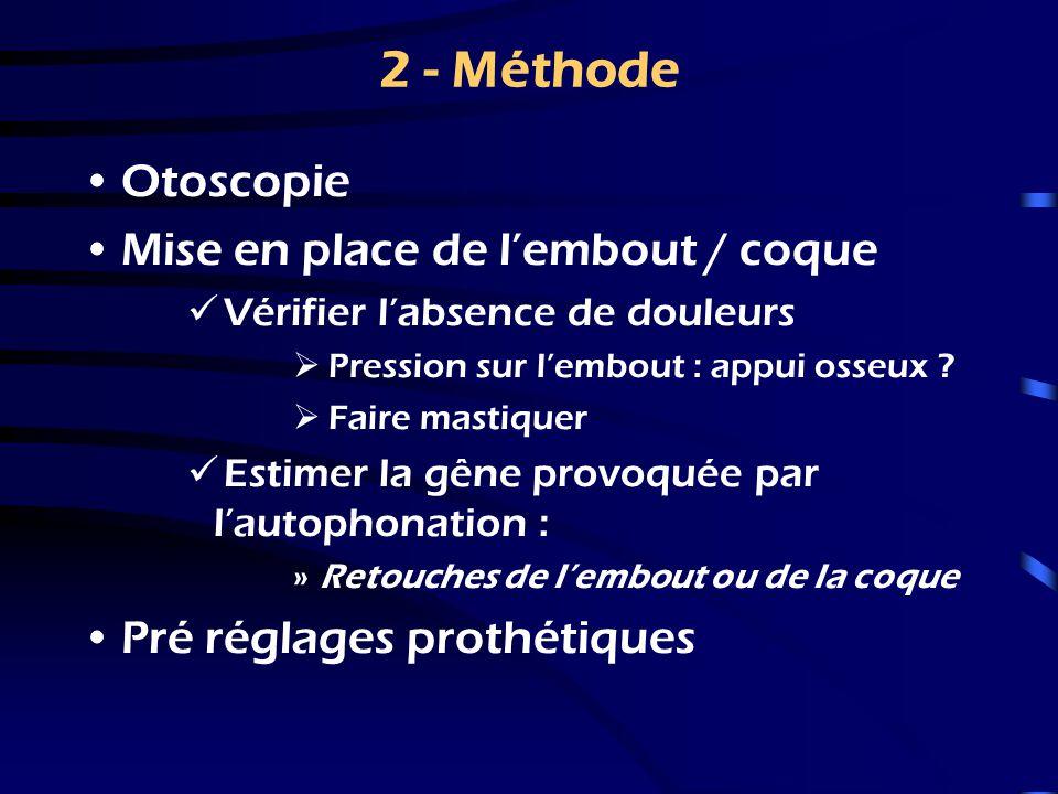2 - Méthode Otoscopie Mise en place de l'embout / coque