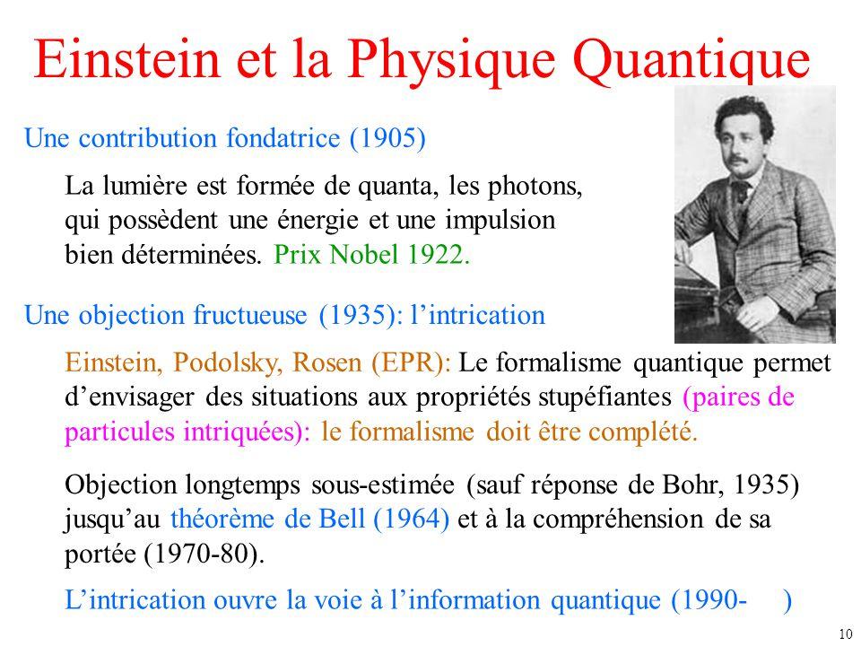 Einstein et la Physique Quantique