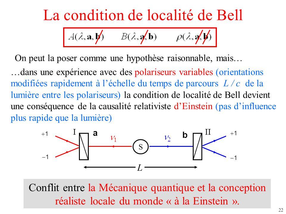 La condition de localité de Bell