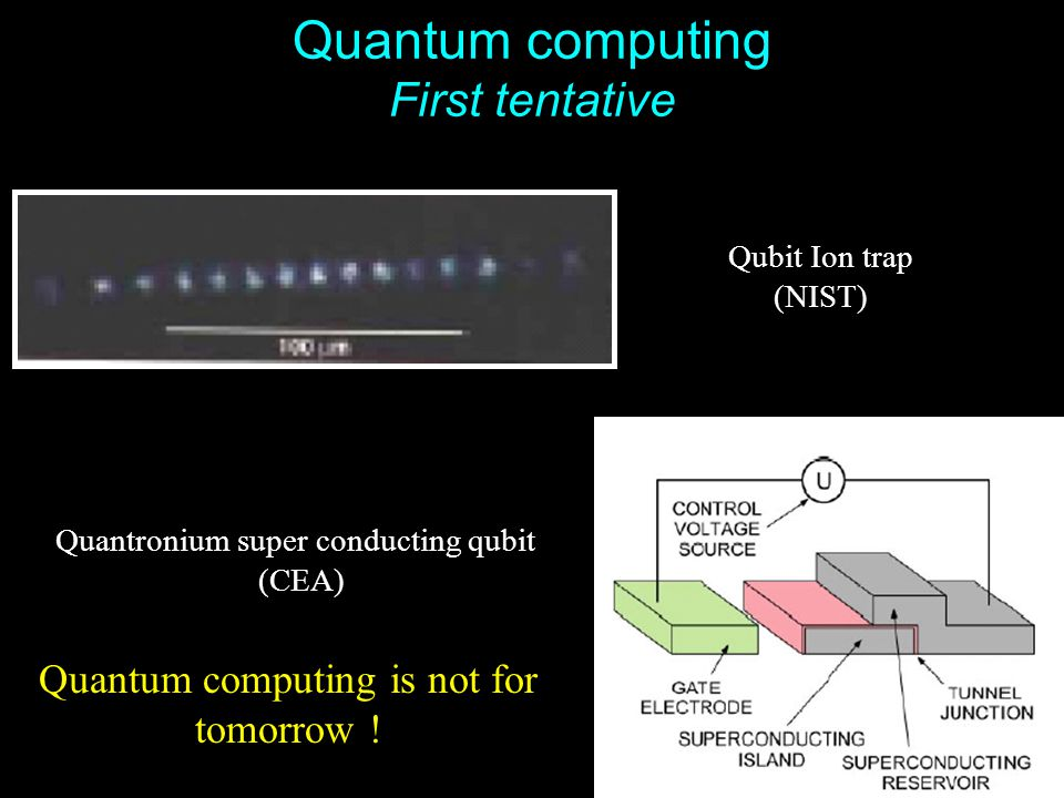 Quantum computing First tentative