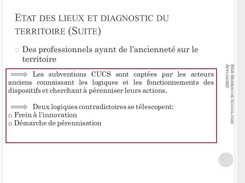 Etat des lieux et diagnostic du territoire (Suite)