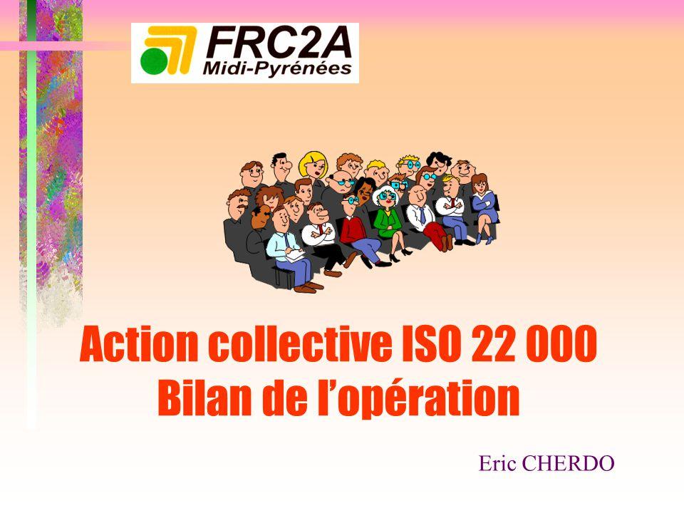 Action collective ISO 22 000 Bilan de l'opération