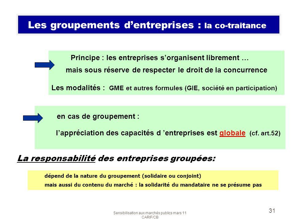 Les groupements d'entreprises : la co-traitance