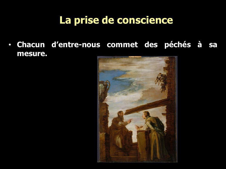 La prise de conscience Chacun d'entre-nous commet des péchés à sa mesure.