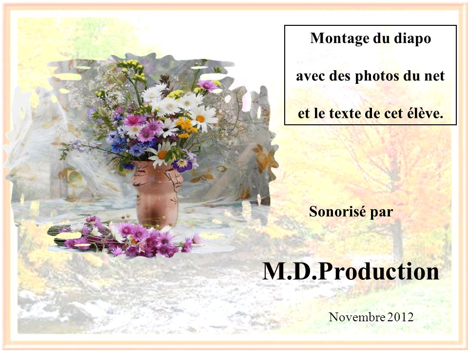 M.D.Production Montage du diapo avec des photos du net