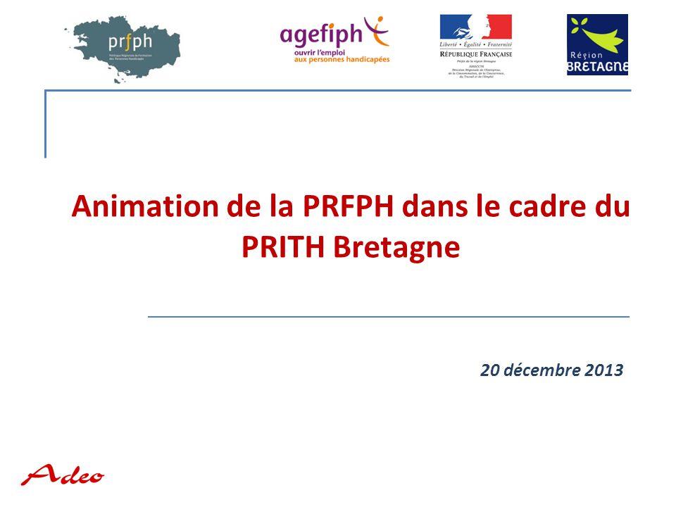 Animation de la PRFPH dans le cadre du PRITH Bretagne