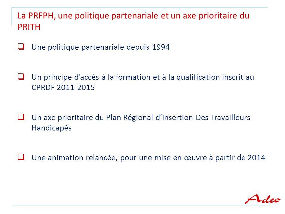 La PRFPH, une politique partenariale et un axe prioritaire du PRITH