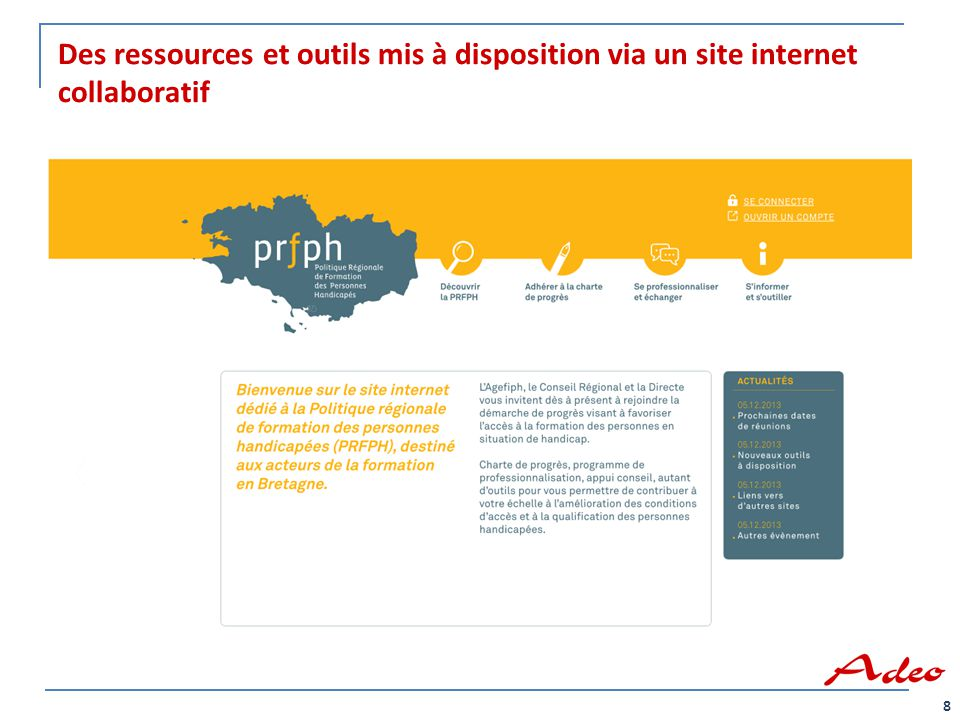 Des ressources et outils mis à disposition via un site internet collaboratif