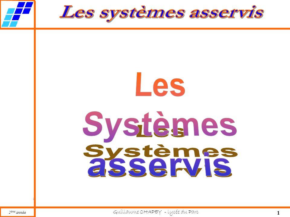 Les Systèmes asservis