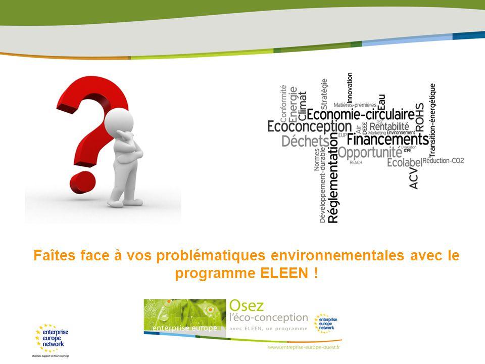 Faîtes face à vos problématiques environnementales avec le programme ELEEN !