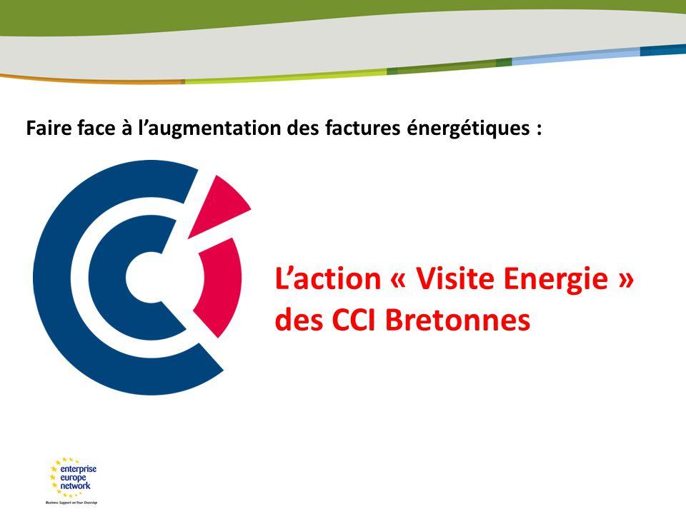 L'action « Visite Energie » des CCI Bretonnes