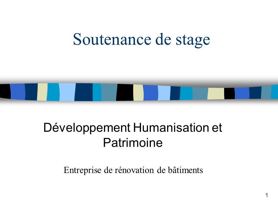 Développement Humanisation et Patrimoine