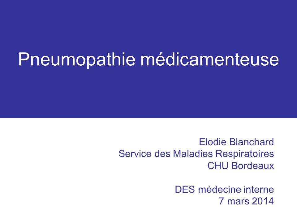 Pneumopathie médicamenteuse