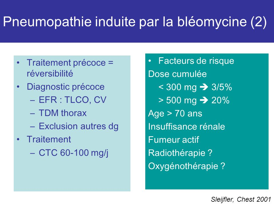 Pneumopathie induite par la bléomycine (2)