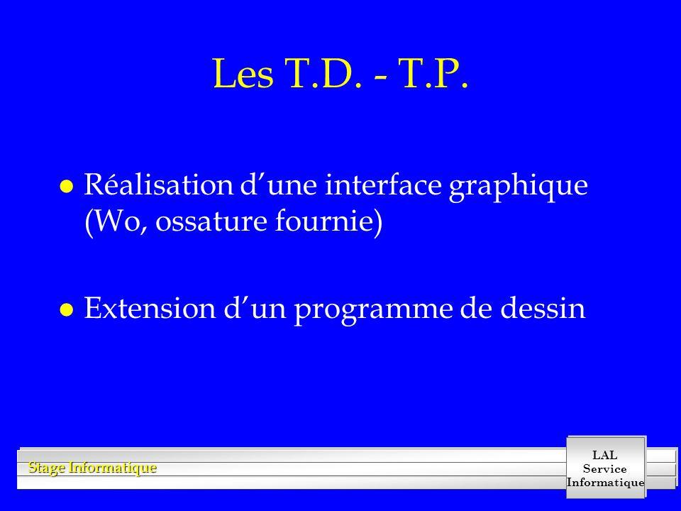 Les T.D. - T.P.