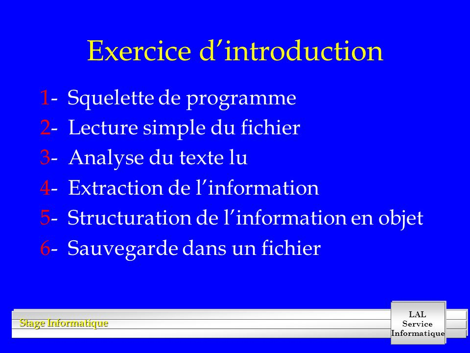 Exercice d'introduction