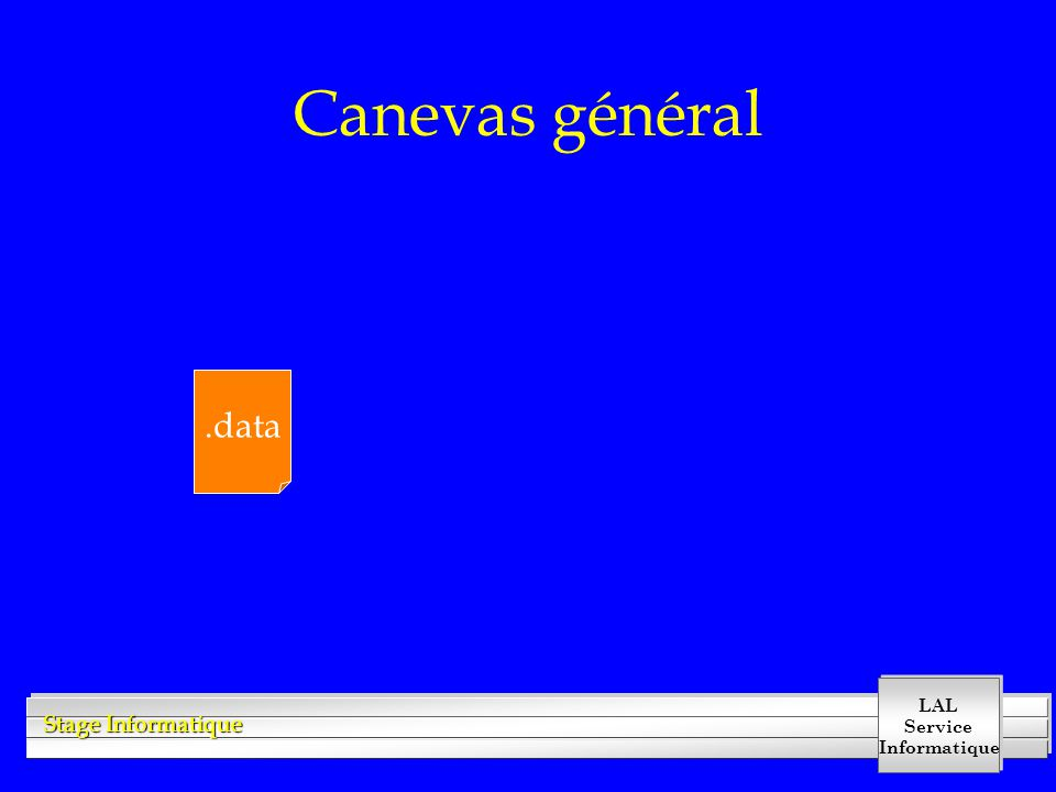 Canevas général .data
