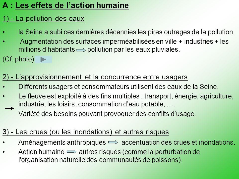 A : Les effets de l'action humaine