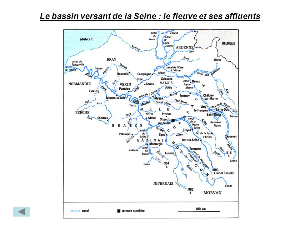 Le bassin versant de la Seine : le fleuve et ses affluents