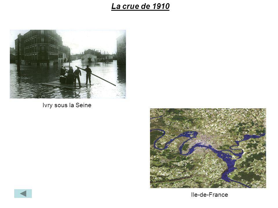 La crue de 1910 Ivry sous la Seine Ile-de-France