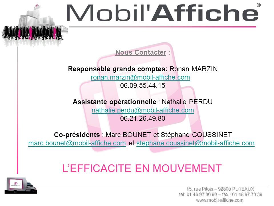 L'EFFICACITE EN MOUVEMENT