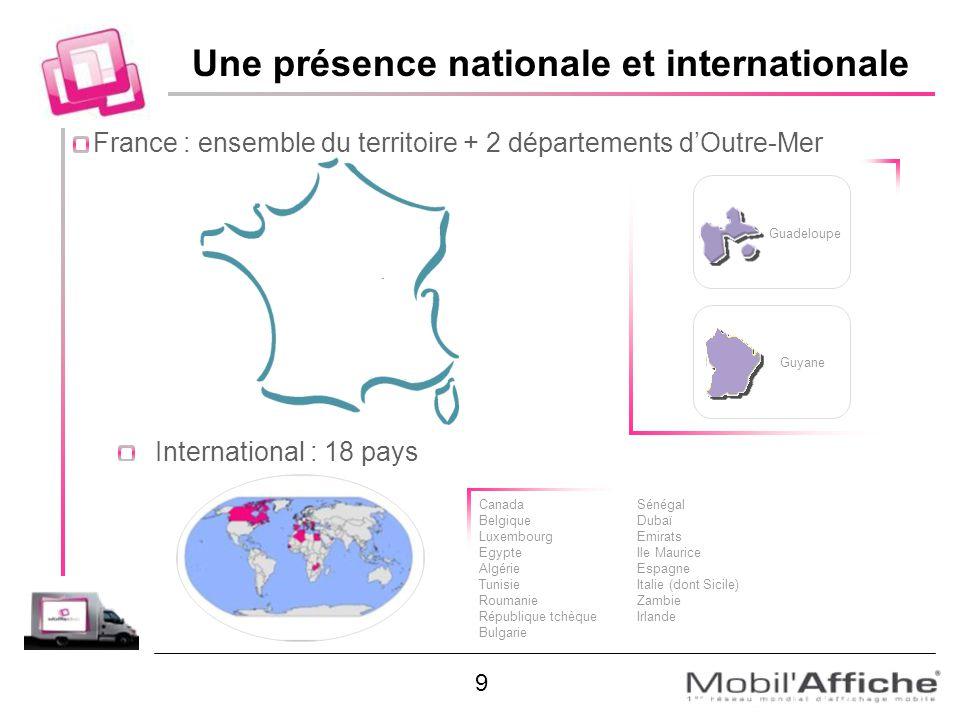 Une présence nationale et internationale