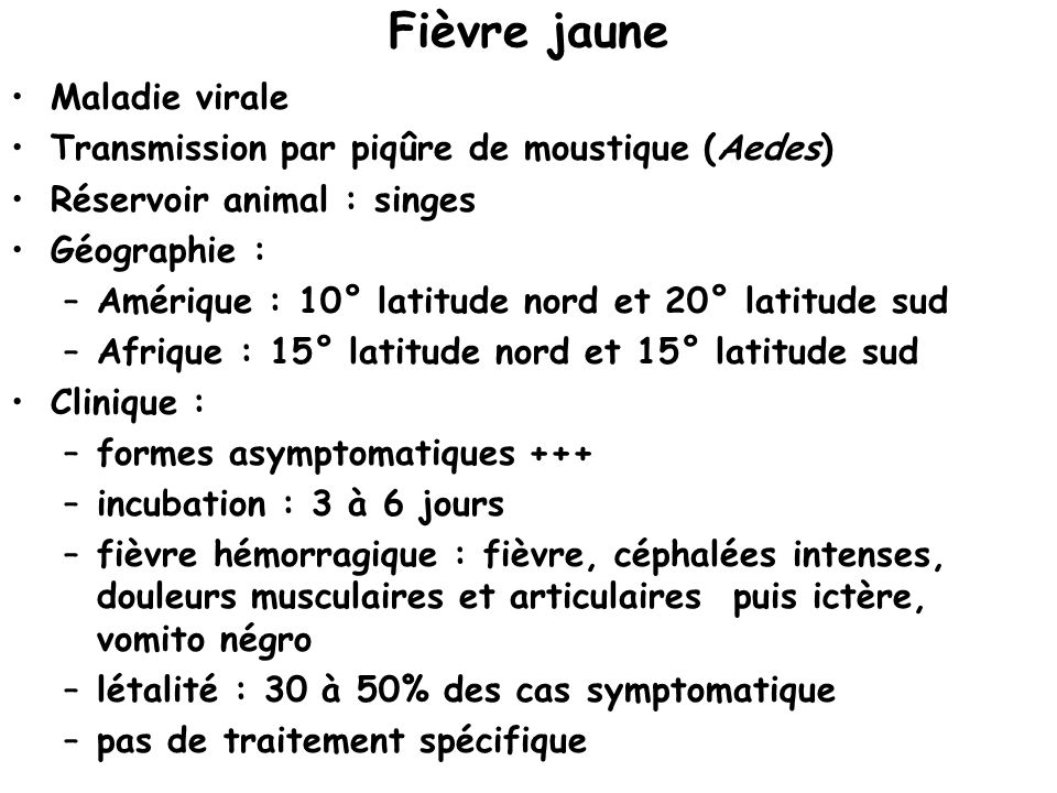 Fièvre jaune Maladie virale
