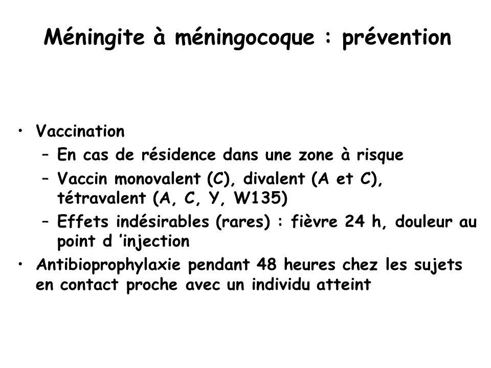 Méningite à méningocoque : prévention