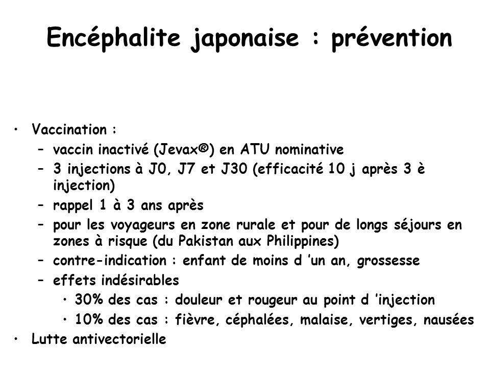 Encéphalite japonaise : prévention