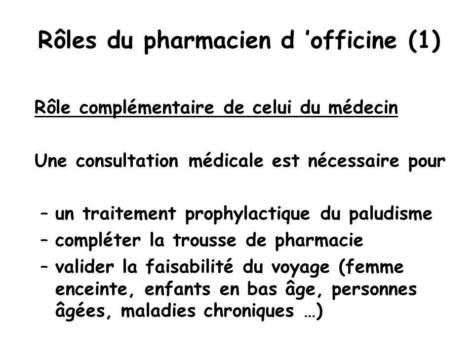 Rôles du pharmacien d 'officine (1)