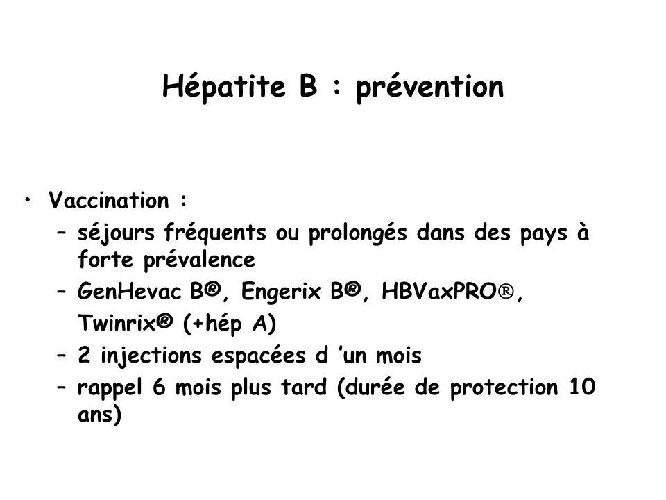 Hépatite B : prévention